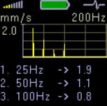 Adash A4900 Vibrio III; FFT spectrum