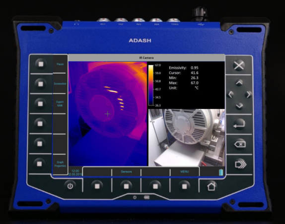 Adash VA5 Pro NDT analyzer for vibration, thermography and ultrasound