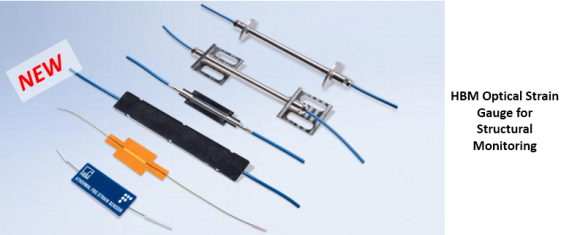 HBM Optical Strain Gage for large structure monitoring
